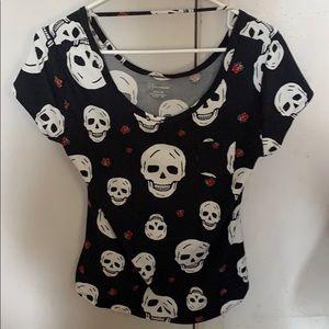 Skull patterned blouse